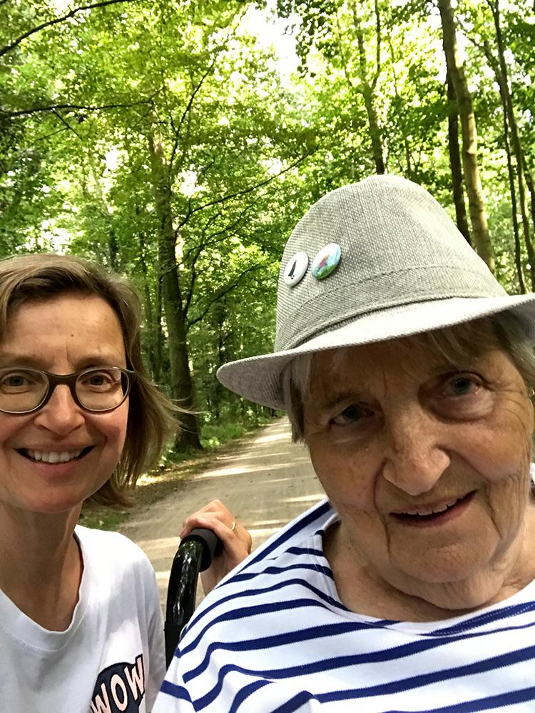 Muko-Spendenlauf 2020 Michaela und Mutter