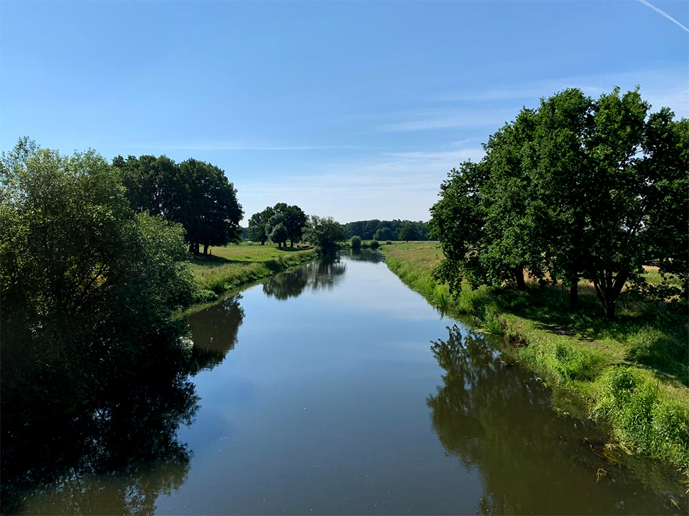 Muko-Spendenlauf 2021 - Bilck auf die Aller bei Celle